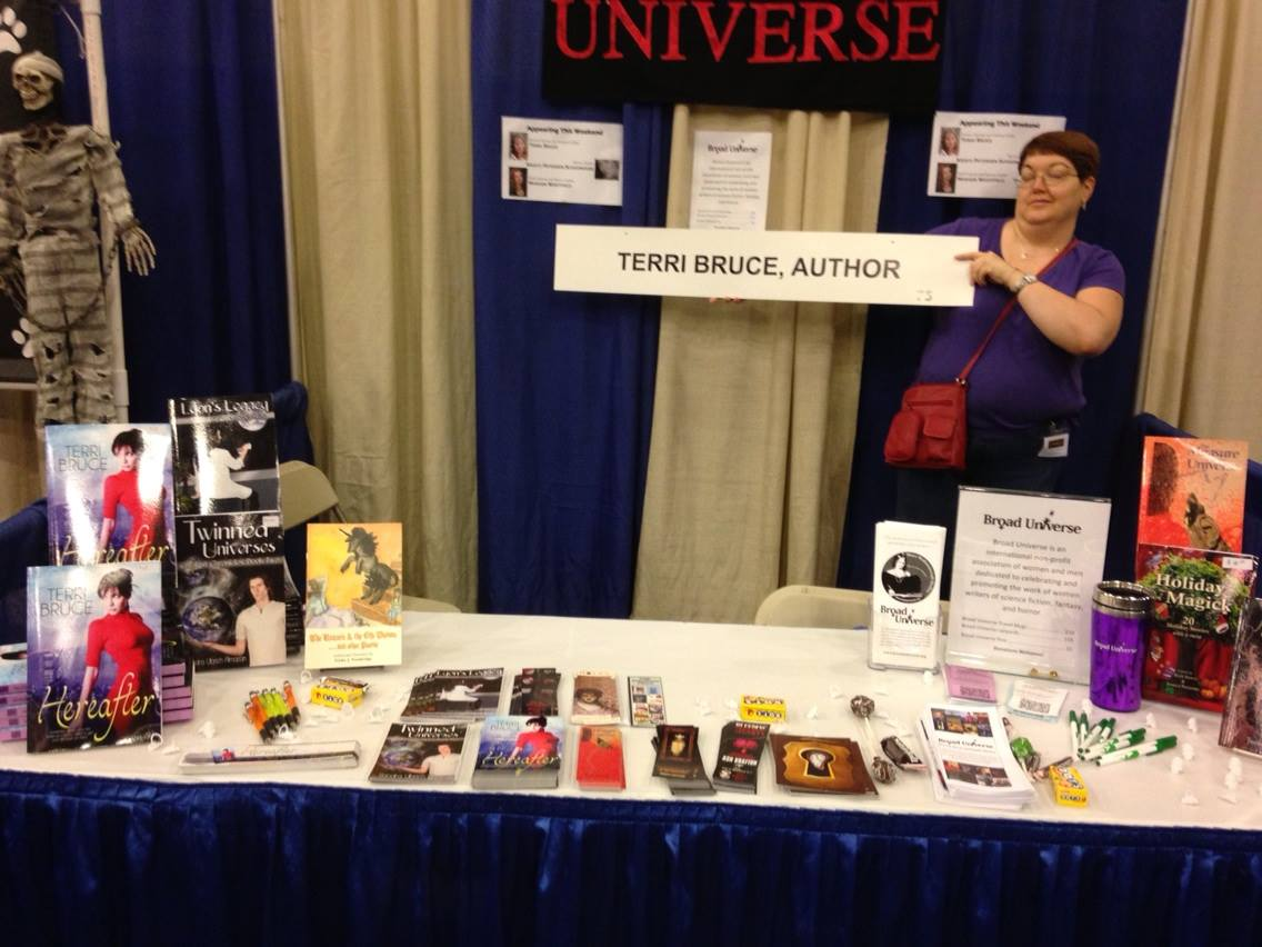 BU table and Terri Author Sign